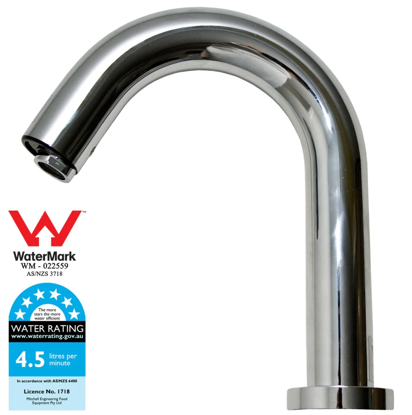 Sensor Tap - Hospital Spout 18cm Deck Mounted